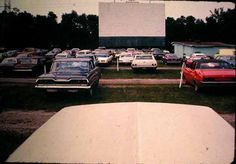 pictures of drive in movie theaters from 1950's   Sunset Drive-in Theater and the movie screen, Claysville, PA ...