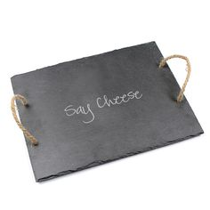 Say Cheese Slate Serving Board - Overstock™ Shopping - Great Deals on Serving Platters/Trays