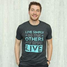 Live Simply $50 Donation T-shirt – FMSCMarketplace.org