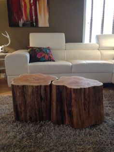 Stump Coffee Tables  Serenitystumps.com Tree trunk tables. Stump Coffee Table like Ellen Ottawa, Ontario Canada Sump coffee table like Ellen Show Tree trunk furniture. Ellen's coffee table look a like