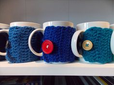 Cup sleeve gift for coworkers ecofriendly por PurpleValleyDesign