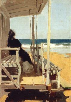 paintingbox:    Joaquín Sorolla y Bastida  (1863 – 1923).  On San Sebastian Beach, c. 1895-1900.