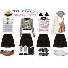 """How to wear a Skater Skirt"" by girls-got-class on Polyvore"
