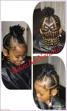 Lil Girl Hairstyles, Black Kids Hairstyles, Teenage Hairstyles, Girls Natural Hairstyles, Kids Braided Hairstyles, Natural Hair Styles, Short Hair Styles, Toddler Hairstyles, School Hairstyles