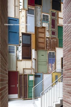 installation by Piet Hein Eek / De Borneohof / projects / Architecture thomas mayer_ archive Old Windows, Windows And Doors, Foto Picture, Wall Design, House Design, Interior Architecture, Interior Design, Door Wall, Old Doors