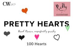 100 Hearts by CoutureWeb on @creativemarket