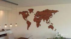 Afbeeldingsresultaat voor world map wall wood