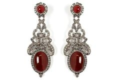 Karenina Czech Glass Scroll Earrings