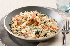 Creamy Rice, Chicken & Spinach Dinner recipe