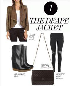 It's leather weather! The drape jacket.