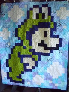 Frog Suit Lap Quilt by bsayasane on Etsy, $85.00