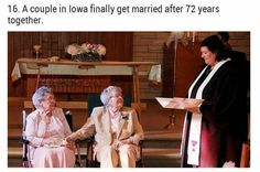 Ninety-year-old gay couple marries in Iowa after 72 years together Vivian Boyack and Alice 'Nonie' Dubes, 91 and met in hometown of Yale, Iowa, while growing up 'We've had our ins and outs, but that's how it goes'
