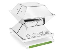 EcoQue's Portable Grill  An energy-efficient, collapsible grill that uses 75 percent less fuel to cook a meal than similarly size versions? Bring on the vegan BBQ.   Available at aplusrstore.com, $125.