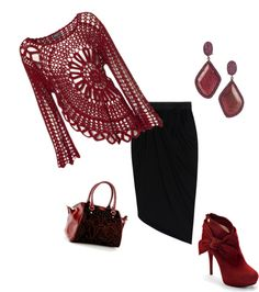 """Black Burgandy"" by mistybreez on Polyvore"