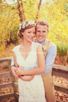 """My best friend got married"" Newlyweds, bride and groom, portrait, poses, Fall wedding, Reiman Gardens:  Ames, Iowa © audrey tyler jones photography"