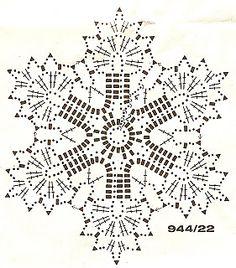 snowflakes crochet 227 schema 2
