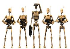 Battle Droids first seen in Star Wars Episode 1