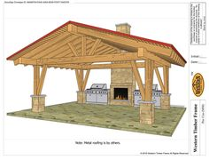 Fast and Easy DIY Pavilion Kit Plan. Design Managers at Western can help to design your dream outdoor living space or give you ideas if you are unsure. # Easy DIY outdoor Easily Build a Fast DIY Beautiful Backyard Shade Structure Backyard Pavilion, Outdoor Pavilion, Backyard Gazebo, Backyard Patio Designs, Outdoor Pergola, Outdoor Rooms, Patio Ideas, Gazebo Ideas, Outdoor Patios