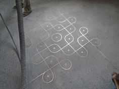 Inlaid Concrete Floor
