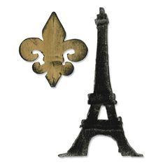 Sizzix Bigz Die - Fleur de Lis & Eiffel Tower $19.99