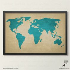 World push pin travel map in wood frame 24x36 track etsy business rustic world map poster vintage map of the world printed canvas texture world map gumiabroncs Image collections