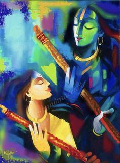 Excited to share this item from my shop: Radha krishna Eternal divine Lovers Arte Krishna, Radha Krishna Love, Indian Art Paintings, Modern Art Paintings, Canvas Paintings, Shiva Art, Hindu Art, Radha Krishna Wallpaper, Radha Krishna Paintings