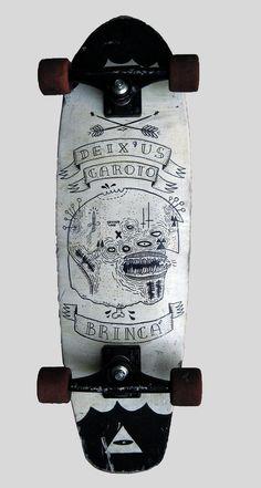 Deix'us Garoto Brinca #custom #painted #skateboard