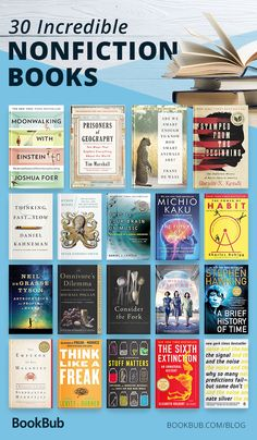 A great reading list of books that will make you smarter. Including inspiring and motivational nonfiction for men, women, and teens! Teen Fashion 30 Nonfiction Books That Are Guaranteed to Make You Smarter Best Books To Read, I Love Books, My Books, Best Non Fiction Books, Teen Books, Reading Books, Books To Read In Your 20s, Best History Books, Best Books Of All Time