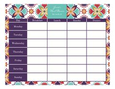 Meal Planner Calendar Pad at PolkaDotDesign.com