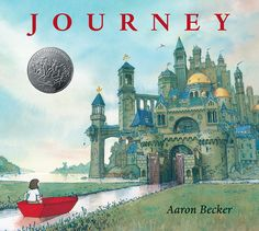 Caldecott Honor - A lonely girl draws a magic door on her bedroom wall and through it escapes into a world where wonder, adventure, and danger abound. Red marker in hand, she creates a boat, a balloon, and a flying carpet that carry her on a spectacular journey toward an uncertain destiny. HC 9780763660536 Ages 4-8 #caldecott