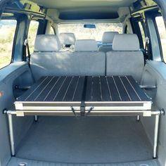 Somier plegable camper para furgoneta turismo tipo BERLINGO, KANGOO, CADDY, PARTNER, DOBLÓ, Ford TOURNEO o COURIER, Dacia DOKKER, Nissan NV200 o EVALIAE, etc