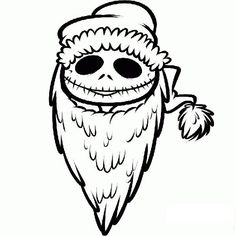 nightmare before christmas line drawing - Google Search