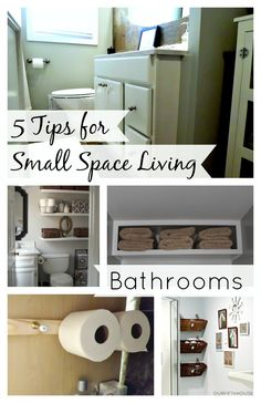 5 useful tips for small space living with bathrooms. www.chatfieldcourt.com #smallspaceliving