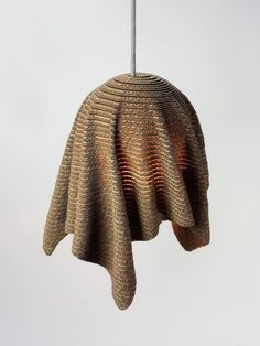 New: Sphere Drape Pendant Lamp Cardboard Sculpture, Cardboard Furniture, Cardboard Crafts, Lamp Design, Wood Design, Design Design, Plotter Cutter, Laser Cutter Projects, Pvc Pipe Projects