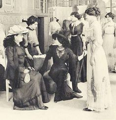 Time Travel back to March 1910 – as the ladies of society from Paris, London and New York pay their annual pilgrimage to the fashion salons of Paris to choose the coming seasons wardrobes.