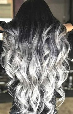 Black to Grey to Silver Ombre Hair me for Cute Silver Inspiration!Black to Grey to Silver Ombre Hair Black to Grey to Silver Ombre Hair me for Cute Silver Inspiration!Black to Grey to Silver Ombre Hair Hair Dye Colors, Ombre Hair Color, Cool Hair Color, Silver Ombre Hair, Silver Blonde, Dyed Hair Ombre, Silver Hair Colors, Cute Hair Colors, Different Hair Colors