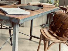 Reclaimed wood and welded home office desk Wood Flooring, Hardwood Floors, Brothers Furniture, Reclaimed Wood Desk, Industrial Desk, Hard Wood, Sitting Area, Wood And Metal, Drafting Desk