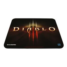I'm learning all about SteelSeries QcK Diablo III Edition Mouse Pad at Cheap Gaming Mouse, Amazon Top, Amazon Deals, World Of Warcraft Merchandise, Starcraft, Free, Games, Surface, Logo