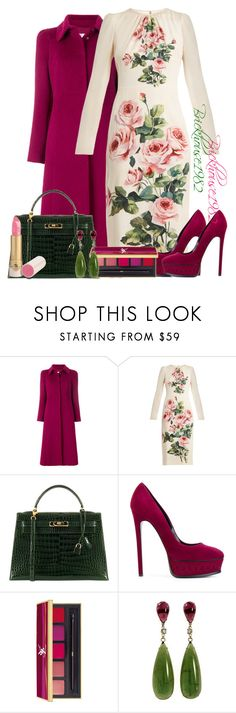 """Untitled #927"" by brickhouse1982 ❤ liked on Polyvore featuring RED Valentino, Dolce&Gabbana, Hermès, Casadei and Yves Saint Laurent"