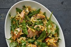 The combination of sweet orange, savoury salmon and fresh herbs makes this pasta salad a tasty, healthful option. If you like, serve smaller portions as a side dish at your next gathering.
