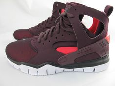 sneakers for cheap 65aaf 675d6 DS Nike Huarache Bball 2012 Maroon Red Mahogany Free Basketball Scarlet   eBay  Free Basketball,