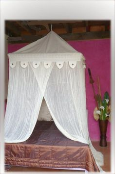 New Style Mosquito Net ( Square top with lace edge )