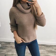 Alma Turtle Neck Sweater (Mocha)