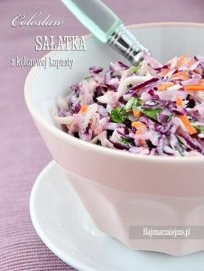 Sałatka Coleslaw Low Calorie Recipes, Paleo Recipes, Cooking Recipes, Yummy Snacks, Yummy Food, Appetizer Salads, Polish Recipes, Side Salad, Appetisers