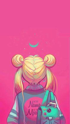 Sailor Moon painting, neon pink, in the nakme of the moon - Hintergrund 2019 Cartoon Wallpaper, Kawaii Wallpaper, Tumblr Wallpaper, Trendy Wallpaper, Galaxy Wallpaper, Disney Wallpaper, Sailor Moon S, Sailor Moon Crystal, Sailor Venus