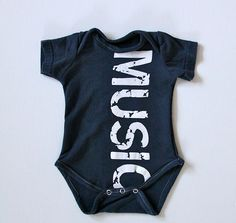 Music Recycled T Shirt Made into a Baby Onesie