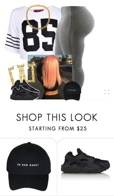 """"""""""" by newtrillvibes ❤ liked on Polyvore featuring NIKE"""