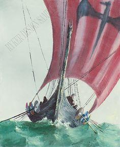 viking ship art