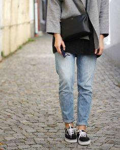 tifmys - Zara jacket, Céline trio bag and Mini Audrey sunnies, H&M Boyfriend denim and Vans sneakers.