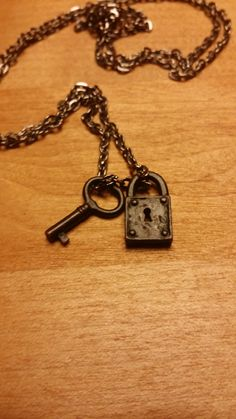 Vintage Lock and Key Necklace
